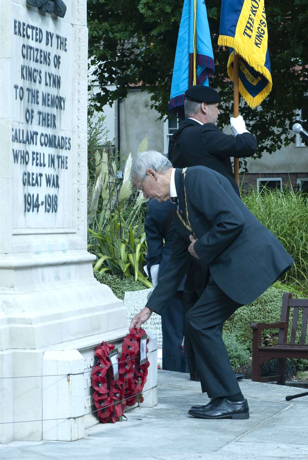 Royal Air Forces Association 81st Anniversary of the Battle Of Britain Service of Commemoration. at Tower Gardens King's Lynn..Pictured West Norfolk borough mayor Harry Humphrey.. (51174903)