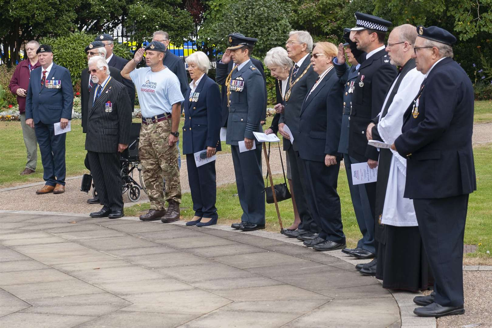 Royal Air Forces Association 81st Anniversary of the Battle Of Britain Service of Commemoration. at Tower Gardens King's Lynn.. (51174914)
