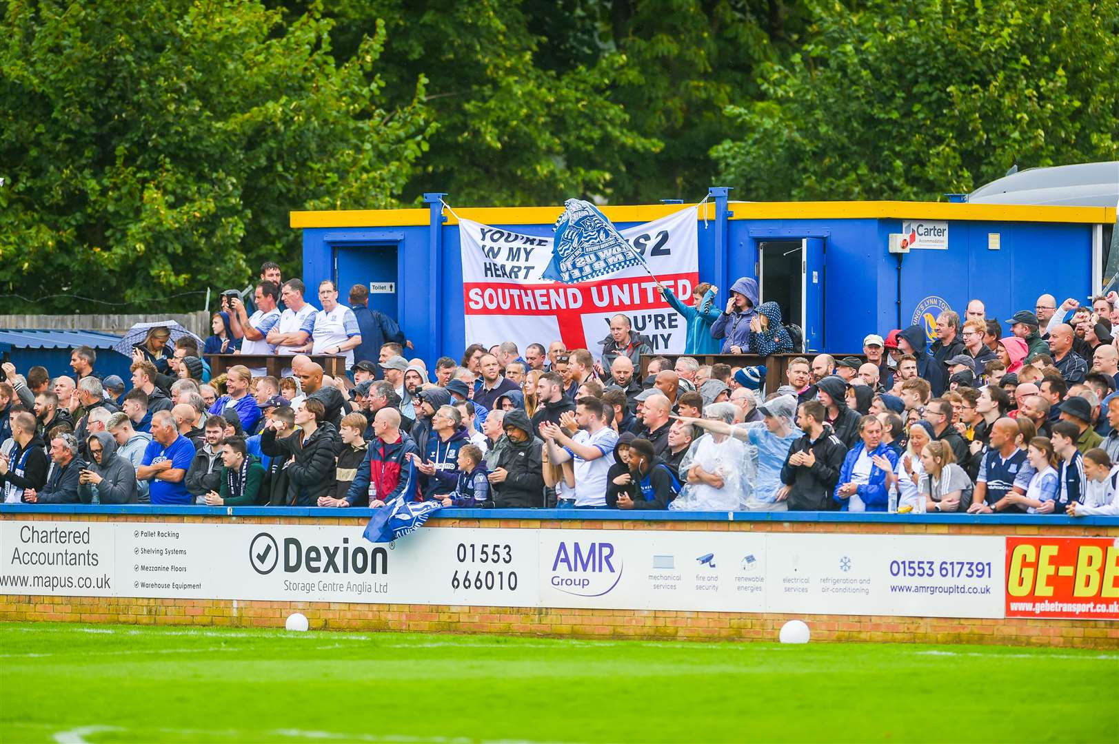 Southend fans in good spirits before the game. (50455729)
