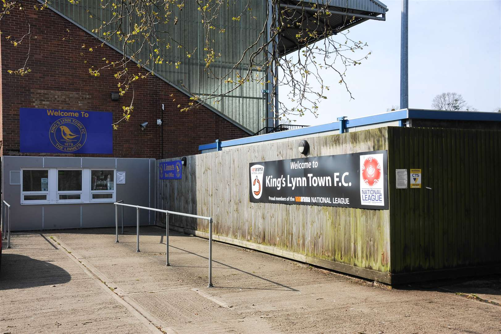 Fans will not be able to buy tickets in person for King's Lynn Town's match with Torquay United next weekend.