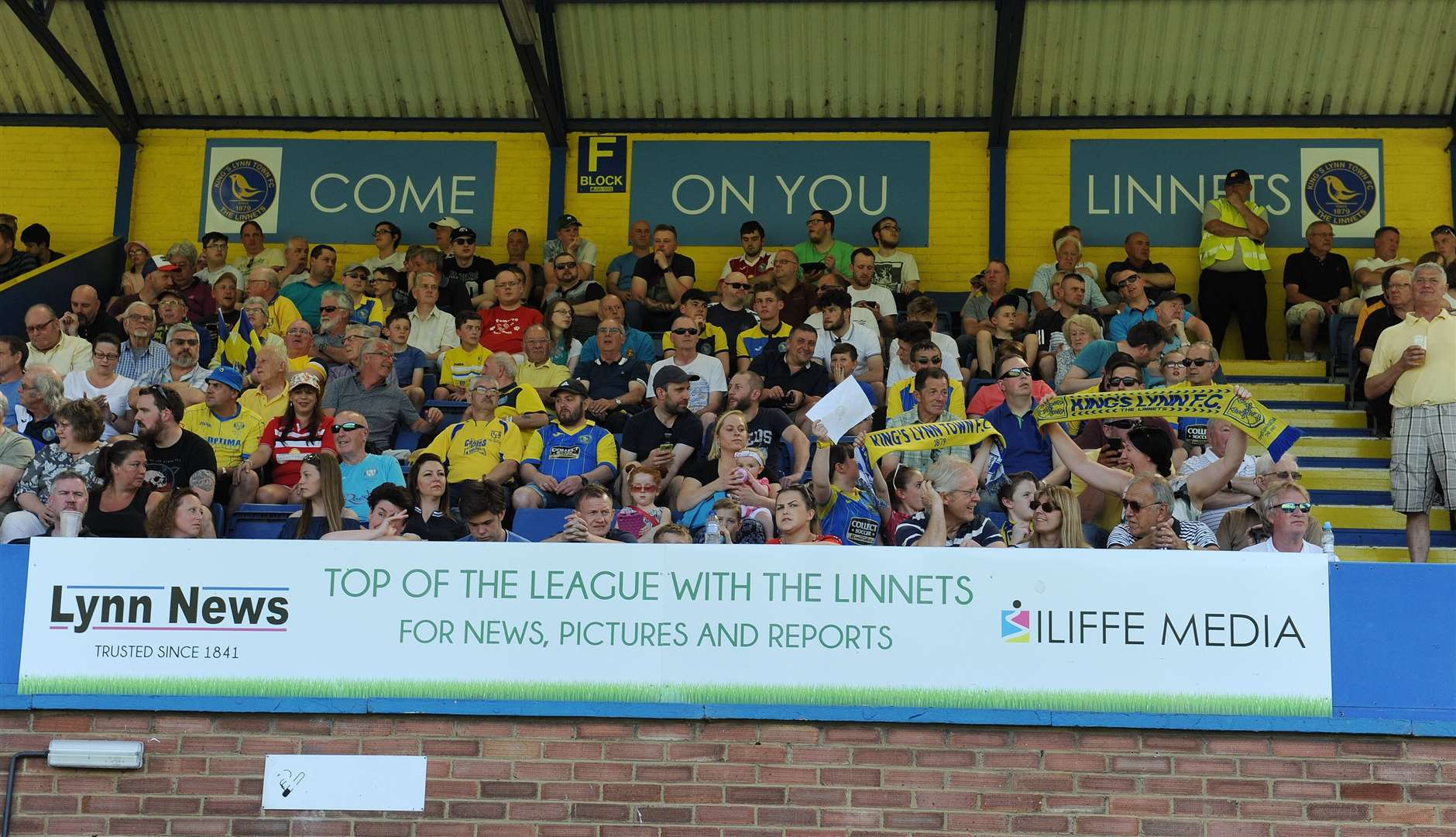 King's Lynn Town fans in the main stand at The Walks. Picture: TIM SMITH (2539981)
