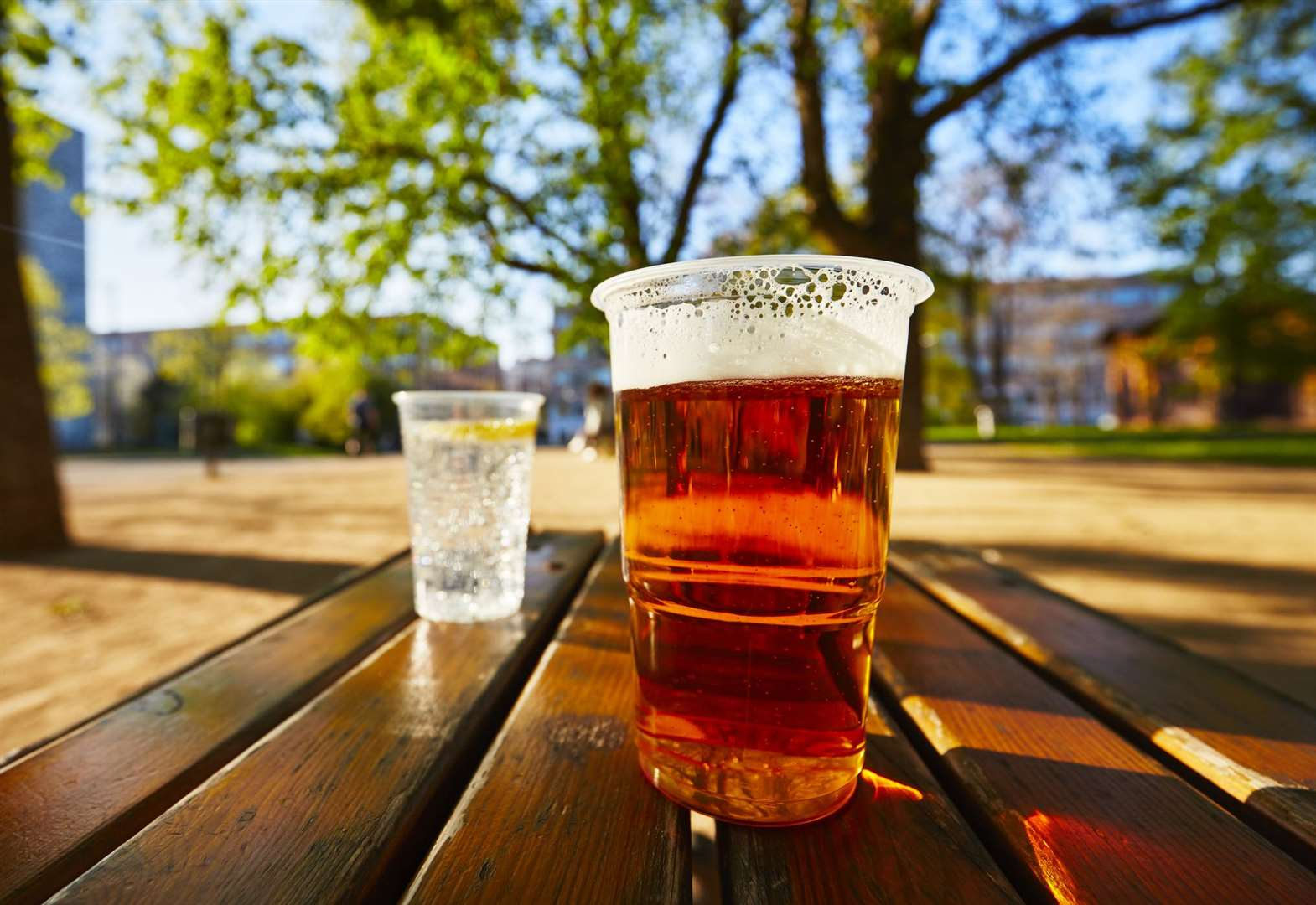 Pub gardens will open to punters from Monday. Stock image