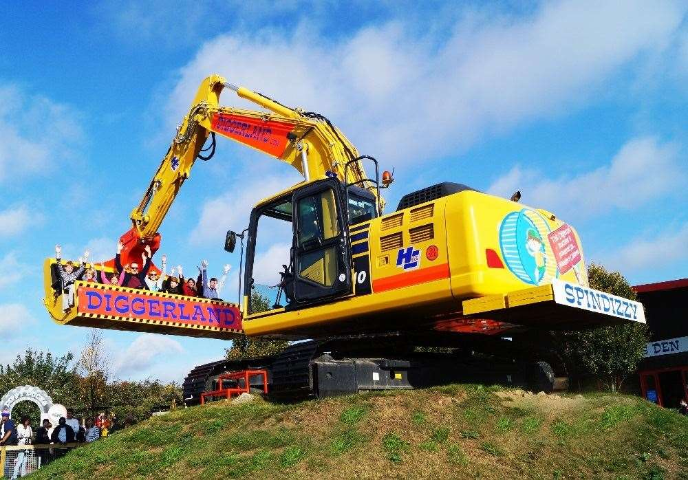 Attractions like theme parks and zoos will reopen on April 12. Picture: Diggerland