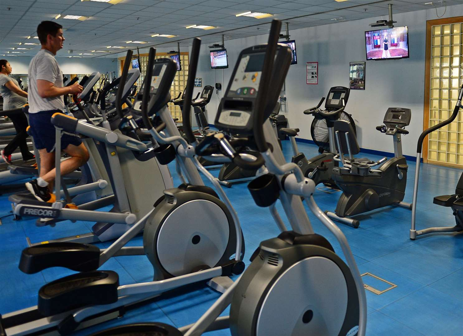 Gym goers will be allowed to return from Monday. Stock image