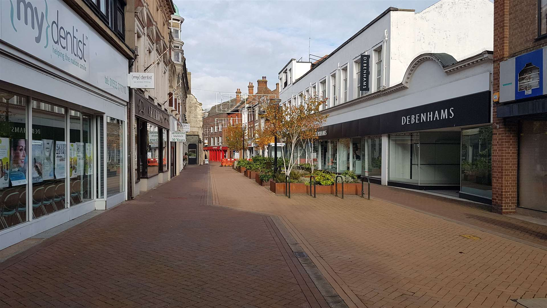 Deserted streets in Lynn's town centre (43010922)