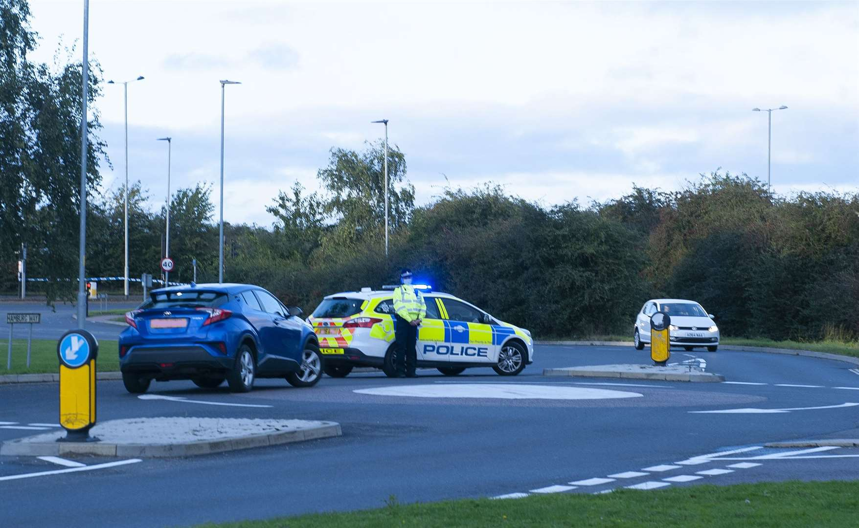 RTA on the Northern Bypass Road Closed. Emergency Services at the scene.. (52192181)