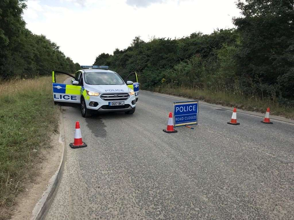 The B1085 was closed after the crash. Picture: Craig Bradshaw
