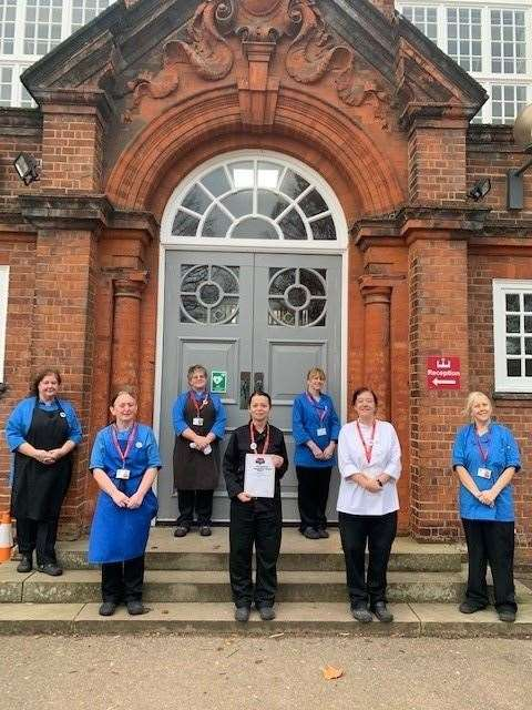 The King Edward VII Academy catering team in King's Lynn.