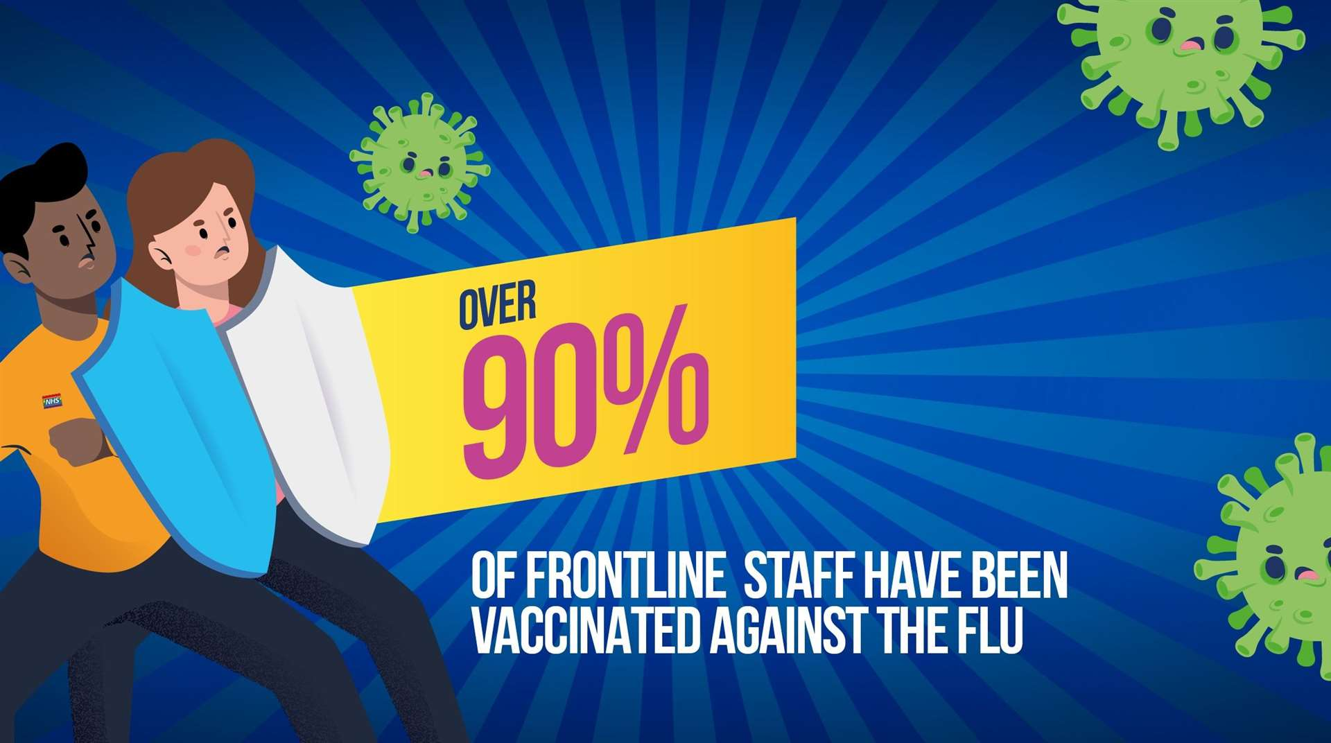 The QEH has announced 90 per cent of patient-facing staff have received a flu jab. Picture: SUBMITTED