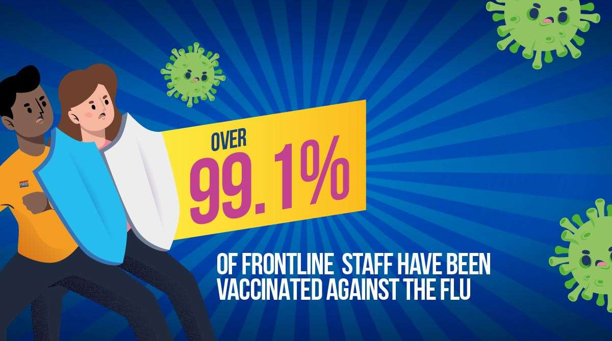 The Queen Elizabeth Hospital has vaccinated 99.1 per cent of patient facing staff. Picture: SUBMITTED (43533680)