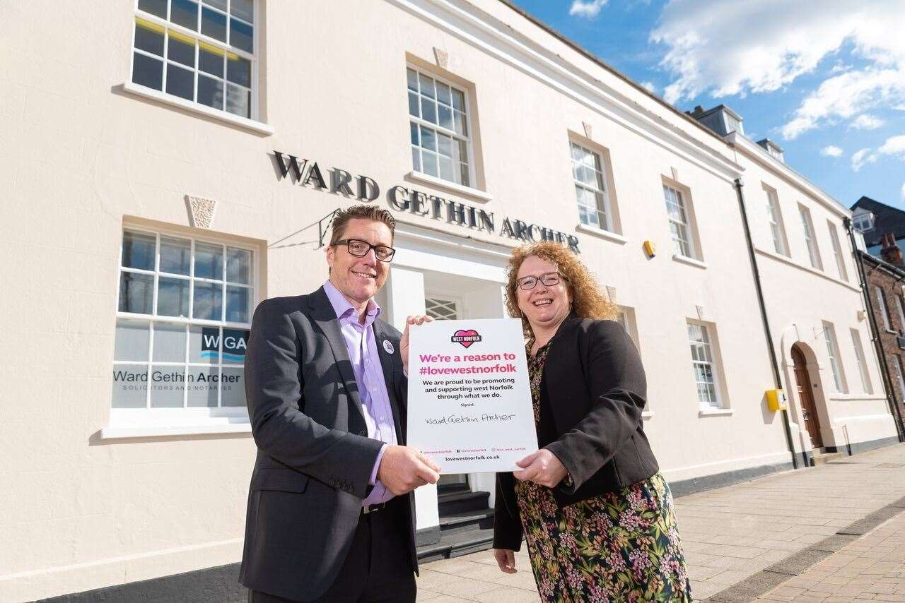 Directors from Ward Gethin Archer signing up to be a Reason to Love West Norfolk. (44039580)