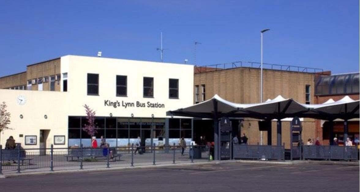 King's Lynn bus station. Picture: King's Lynn Police Twitter (44074565)