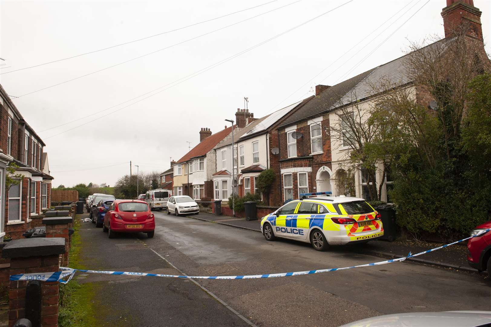Part of Queens Avenue has been sealed off following the incident.