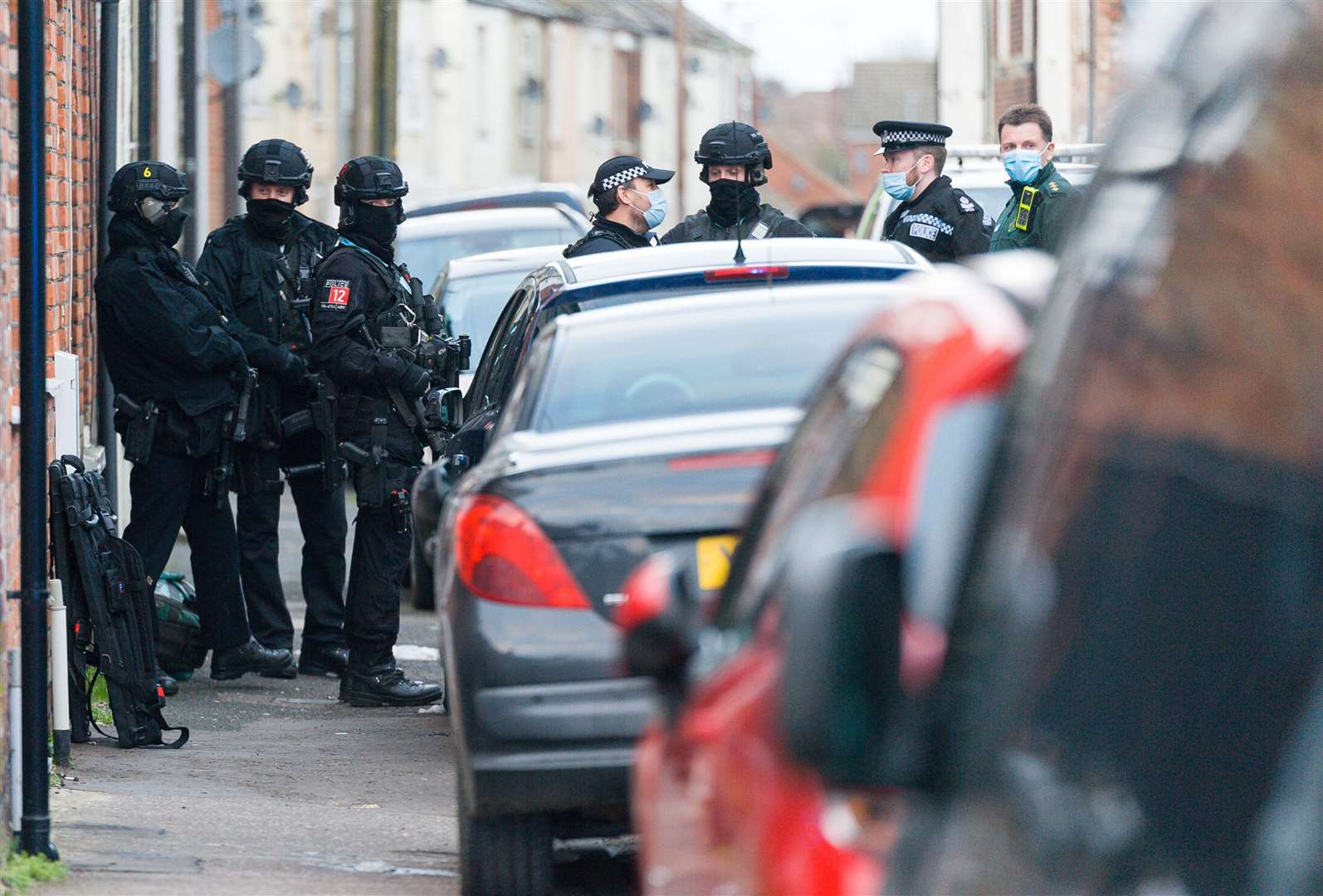Police Officers from the Armed Response Unit were in attendance. Picture: Ian Burt. (44401470)