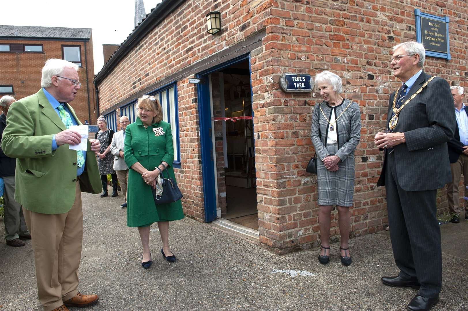 30th Anniversary of Trues Yard Exhibition - pictured, from left, Dr Paul Richards, Lady Pippa Dannett, Mayoress Brenda Humphrey and Mayor Harry Humphrey