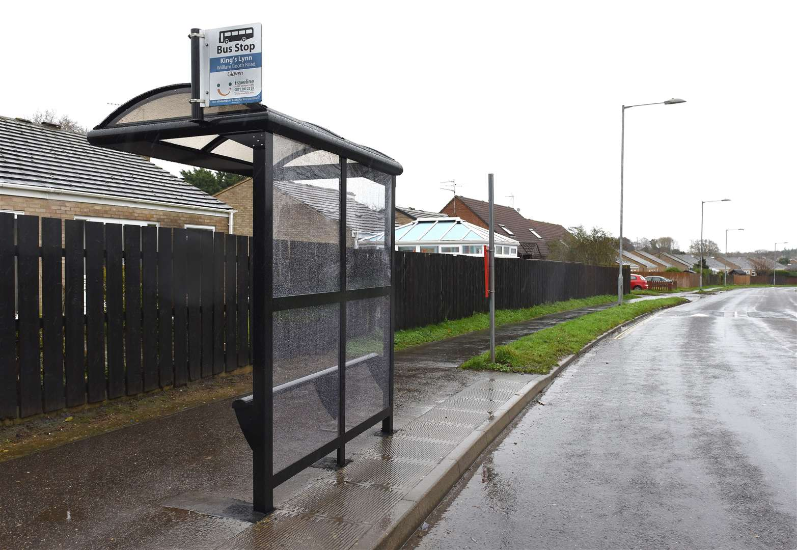 A new bus shelter now installed on William Booth Road (Opposite Minster Court) on the Fairstead Estate. Picture: Paul Marsh
