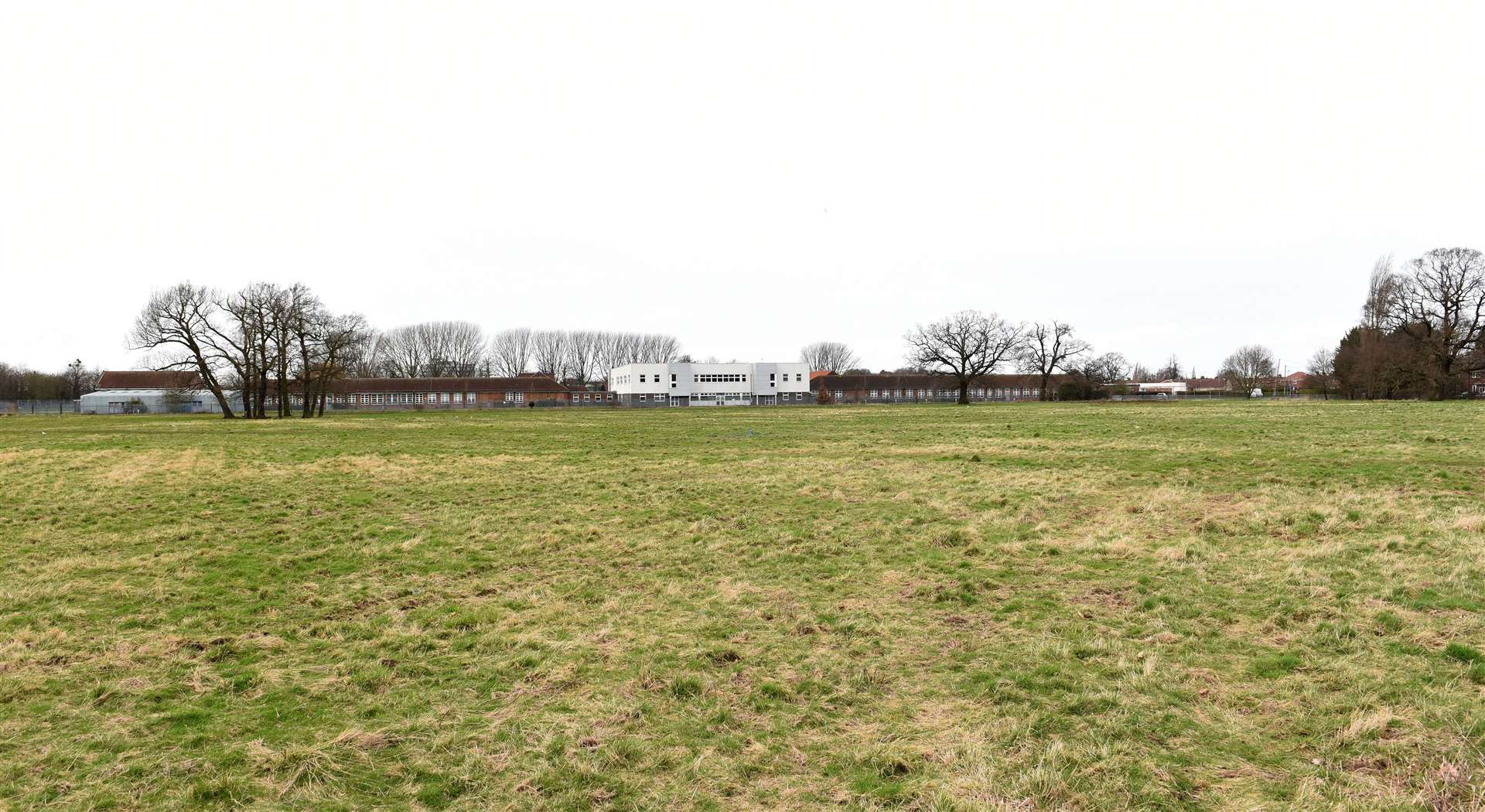 GV Picture of Land which is being Proposed for Possible New Housing Development for the Gaywood Area...Land next to the King's Lynn Academy Site off Queen Mary Road/Parkway Gaywood. (49550577)