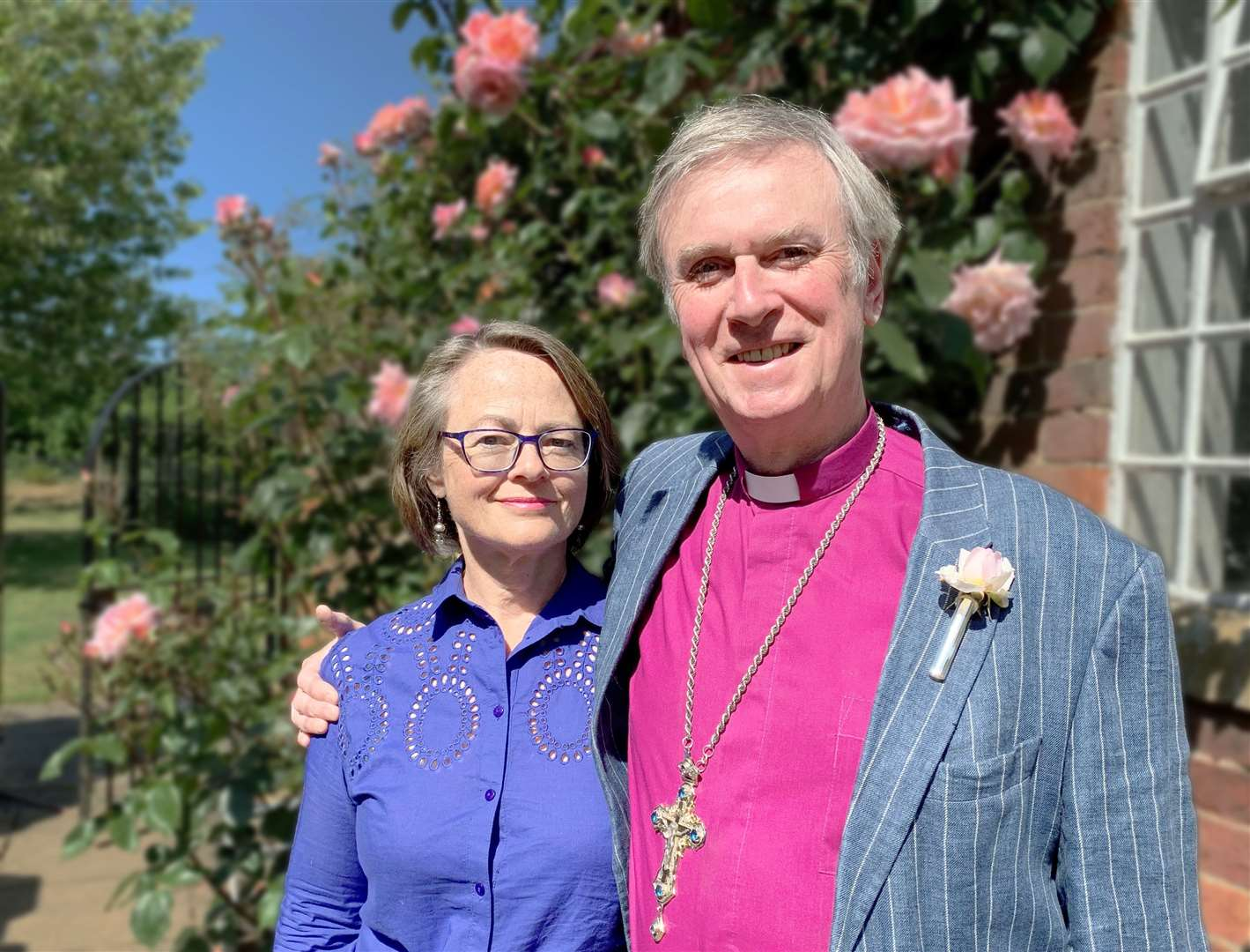 The Bishop of Lynn, the Rt Rev Jonathan Meyrick, with his wife Rebecca