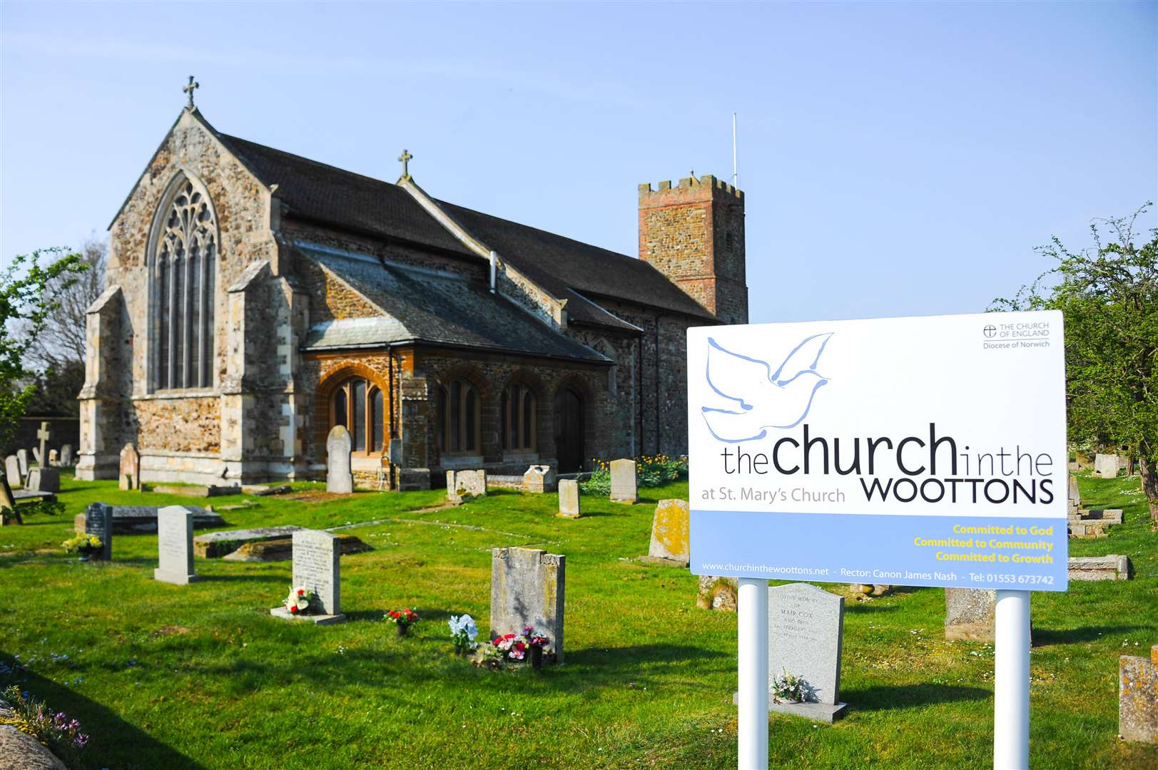St Mary's Church in the Woottons.. (43784484)