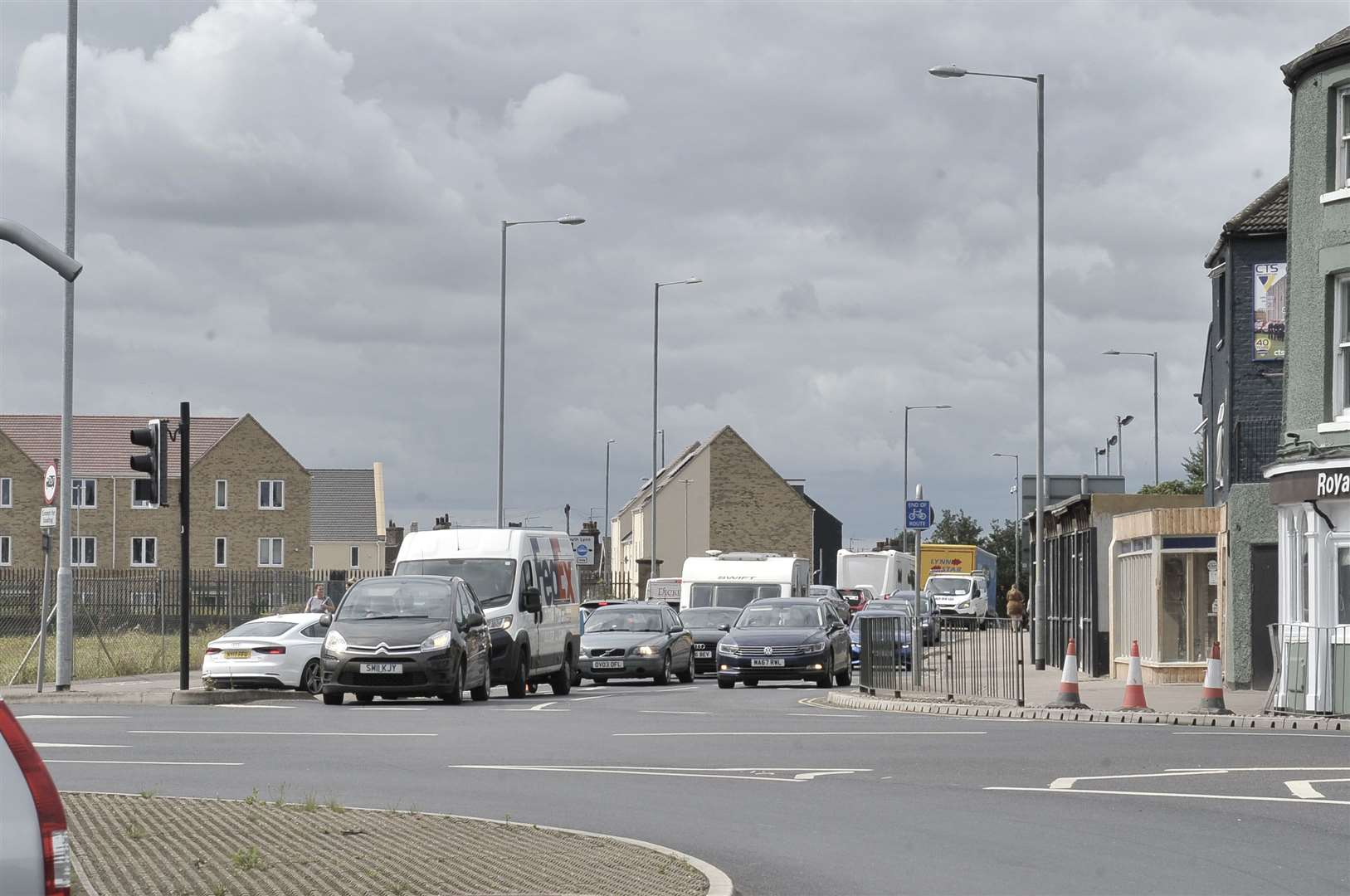 King's Lynn Town Grid Locked due to accident on Pullover Road.. (50424695)