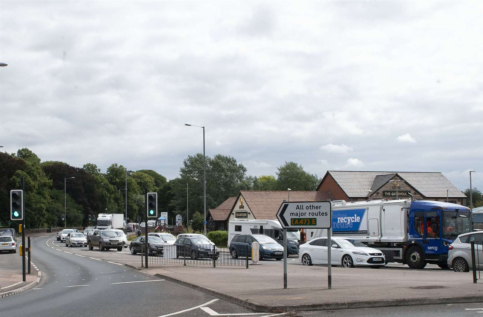 King's Lynn Town Grid Locked due to accident on Pullover Road.. (50424697)