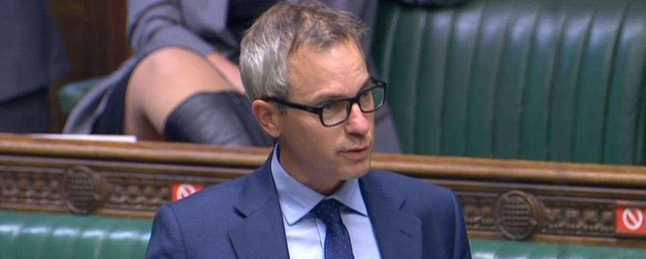 North West Norfolk MP James Wild asking Prime Minister Boris Johnson about the prospect of a nursing college in King's Lynn at PMQs on September 9. (45846199)