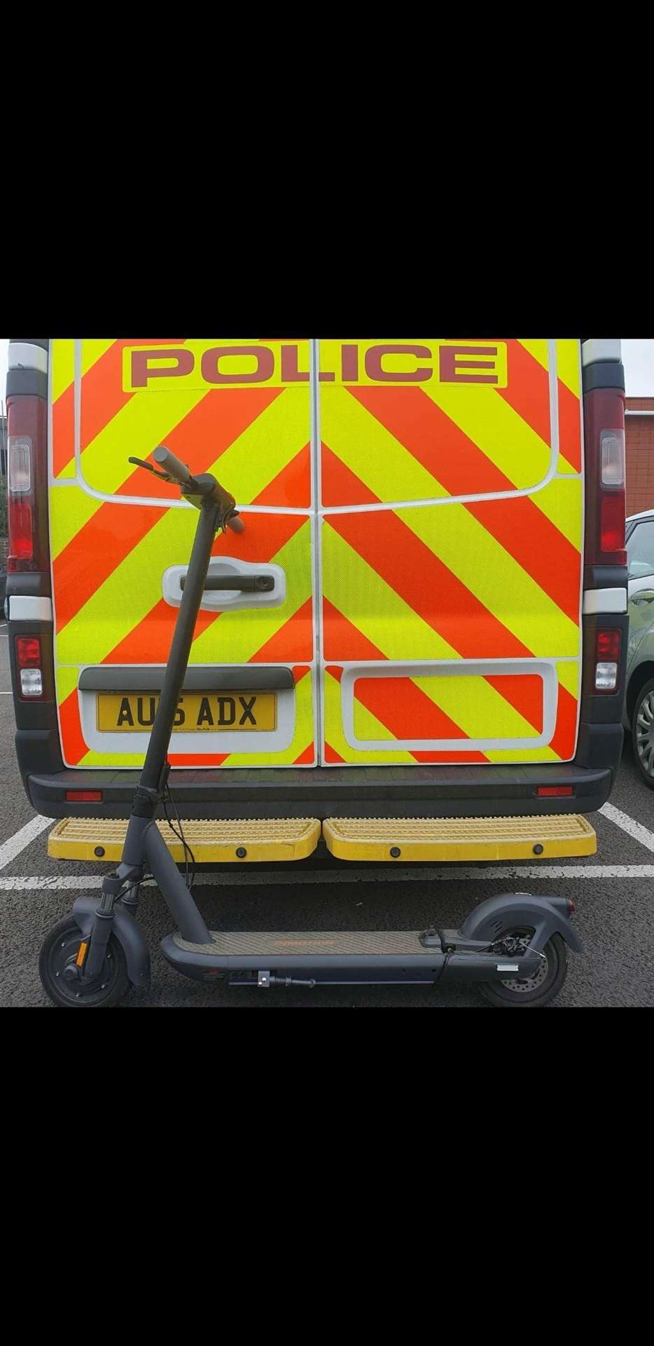 King's Lynn Police seize an E-Scooter worth £750 CREDIT King's Lynn Police Twitter (49206003)