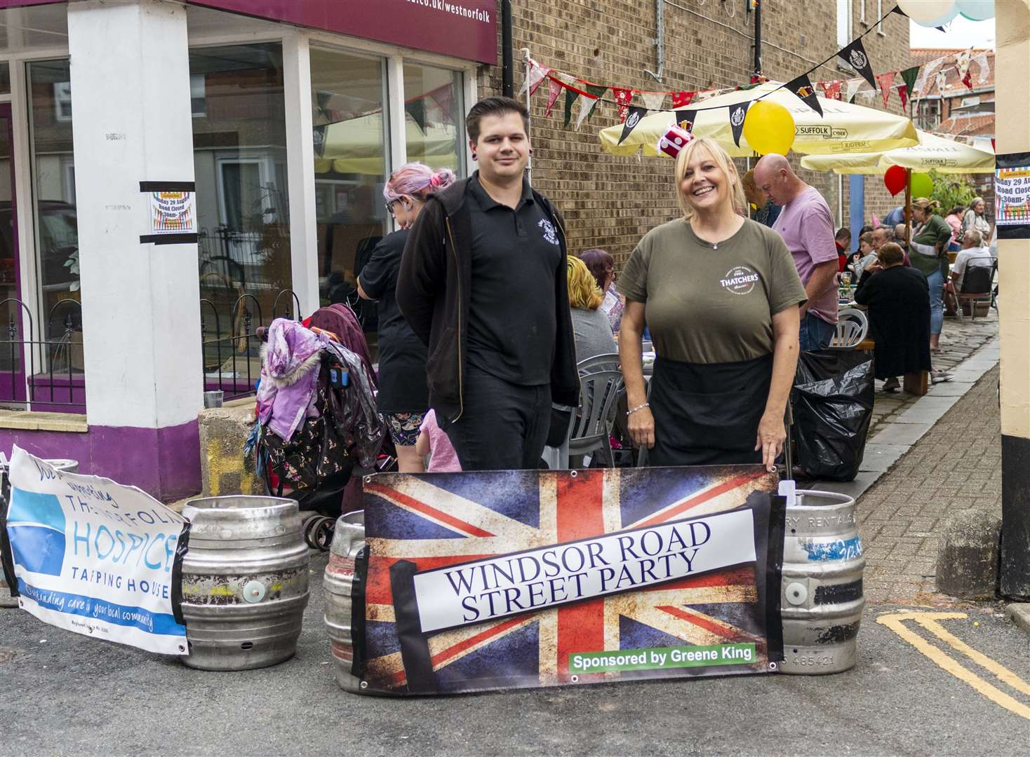 The Windsor Road street party raised funds for Tapping House. (50743415)