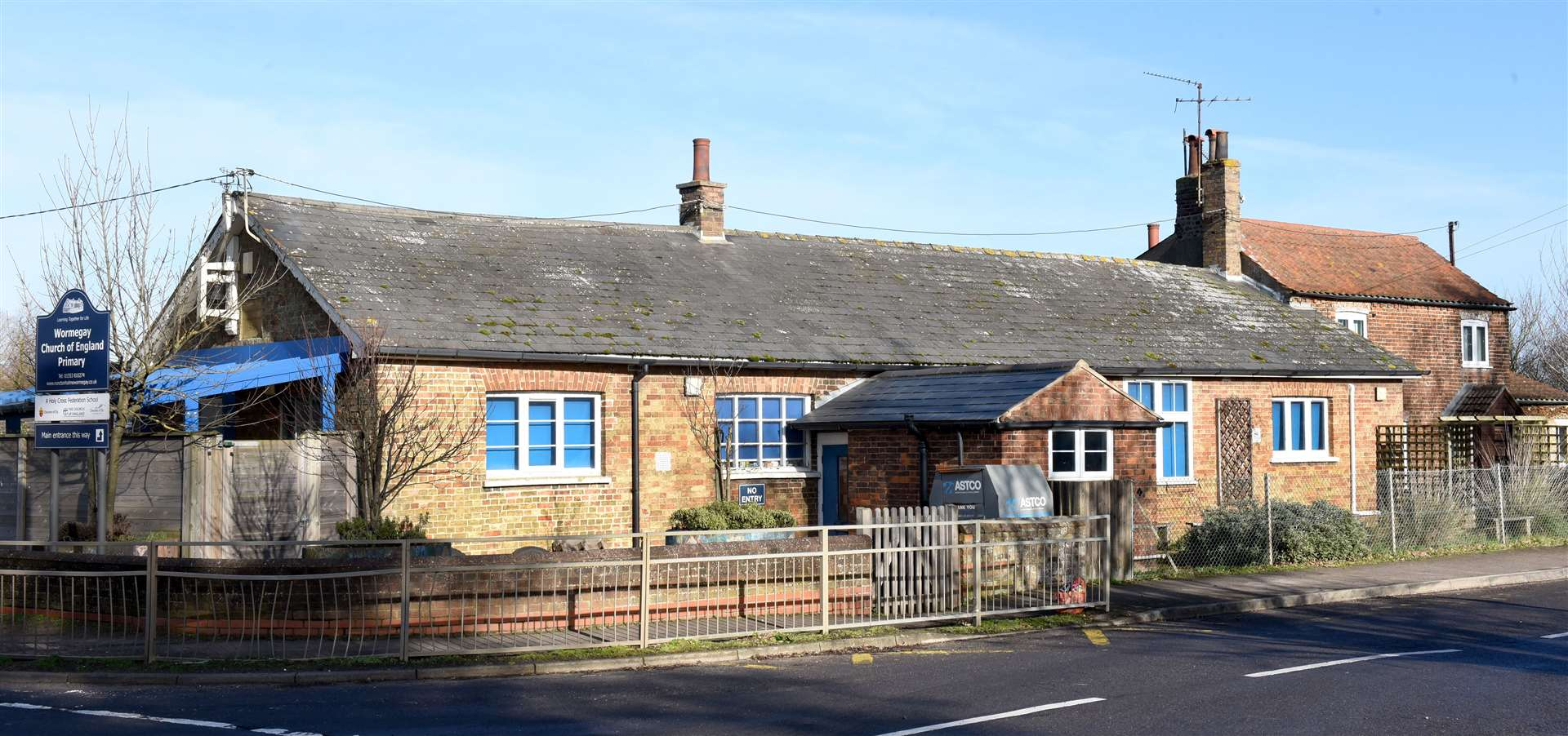 GV Picture of Wormegay Church of England Primary School. (44271139)