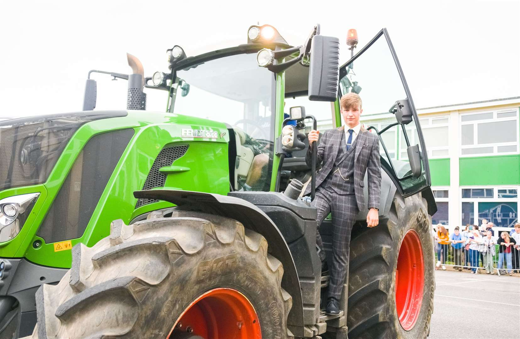 A tractor was among the transport options on show (50585451)