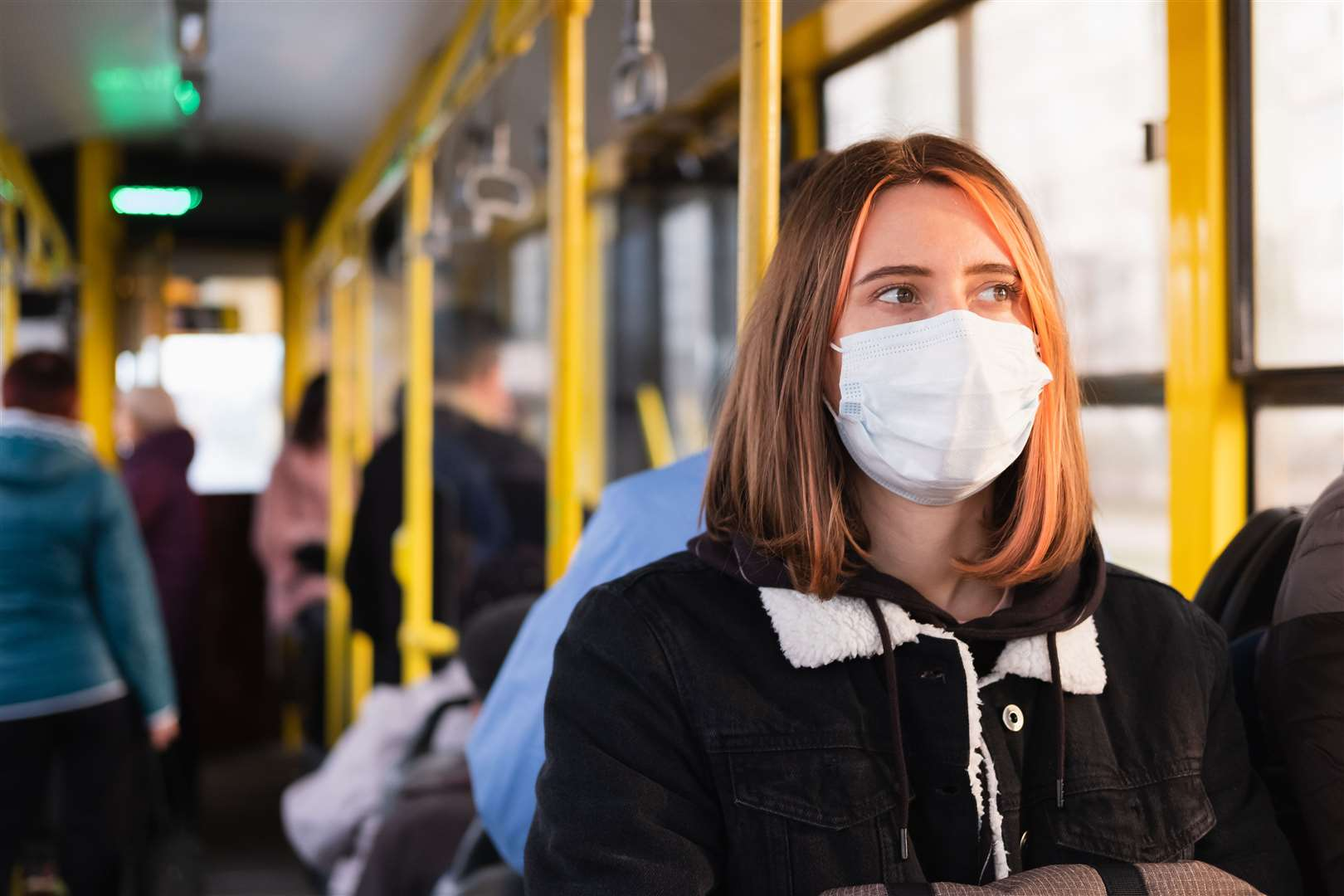 Requirements to wear face masks on public transport may be lifted by September. Stock picture