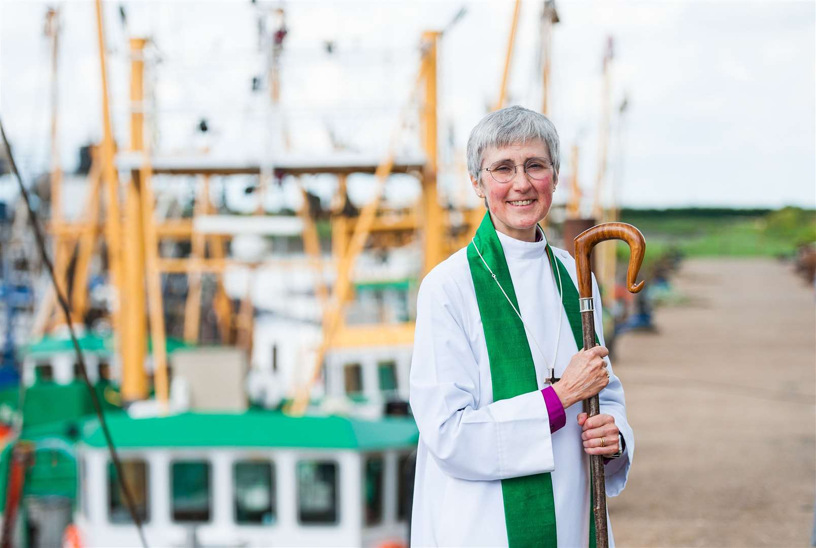 The Fisher Fleet was blessed by the Bishop of Lynn, The Venerable Dr Jane Steen. (49110166)