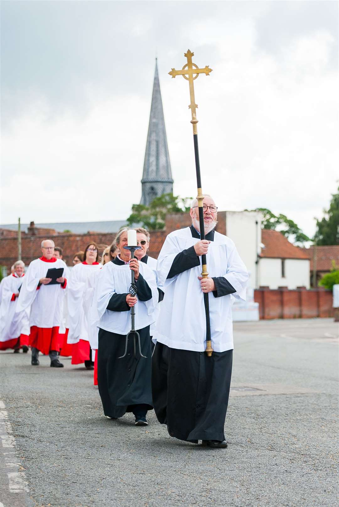 The Sea Sunday procession made its way from St Nicholas Chapel to the Fisher Fleet.. (49110046)