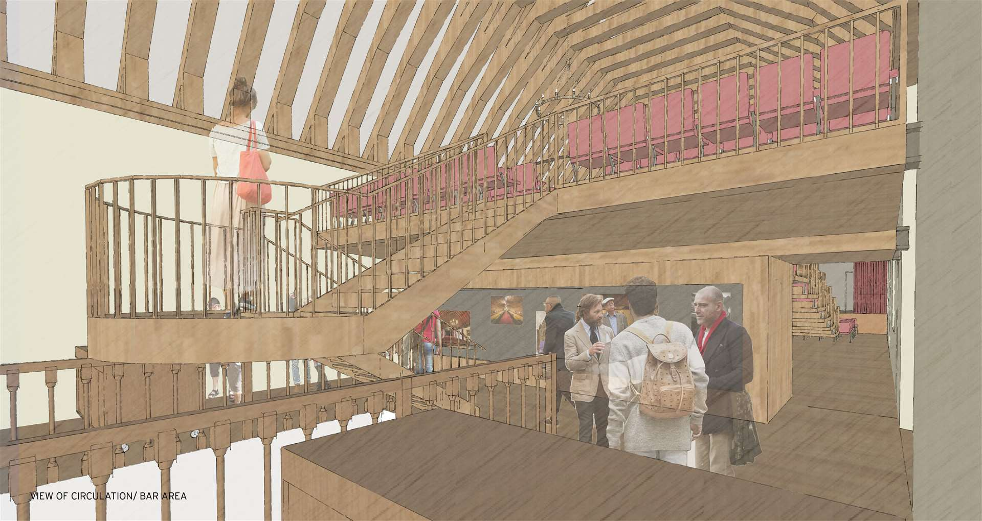 A vision for the future of the St George's Guildhall in Lynn. The bar area. (44355440)