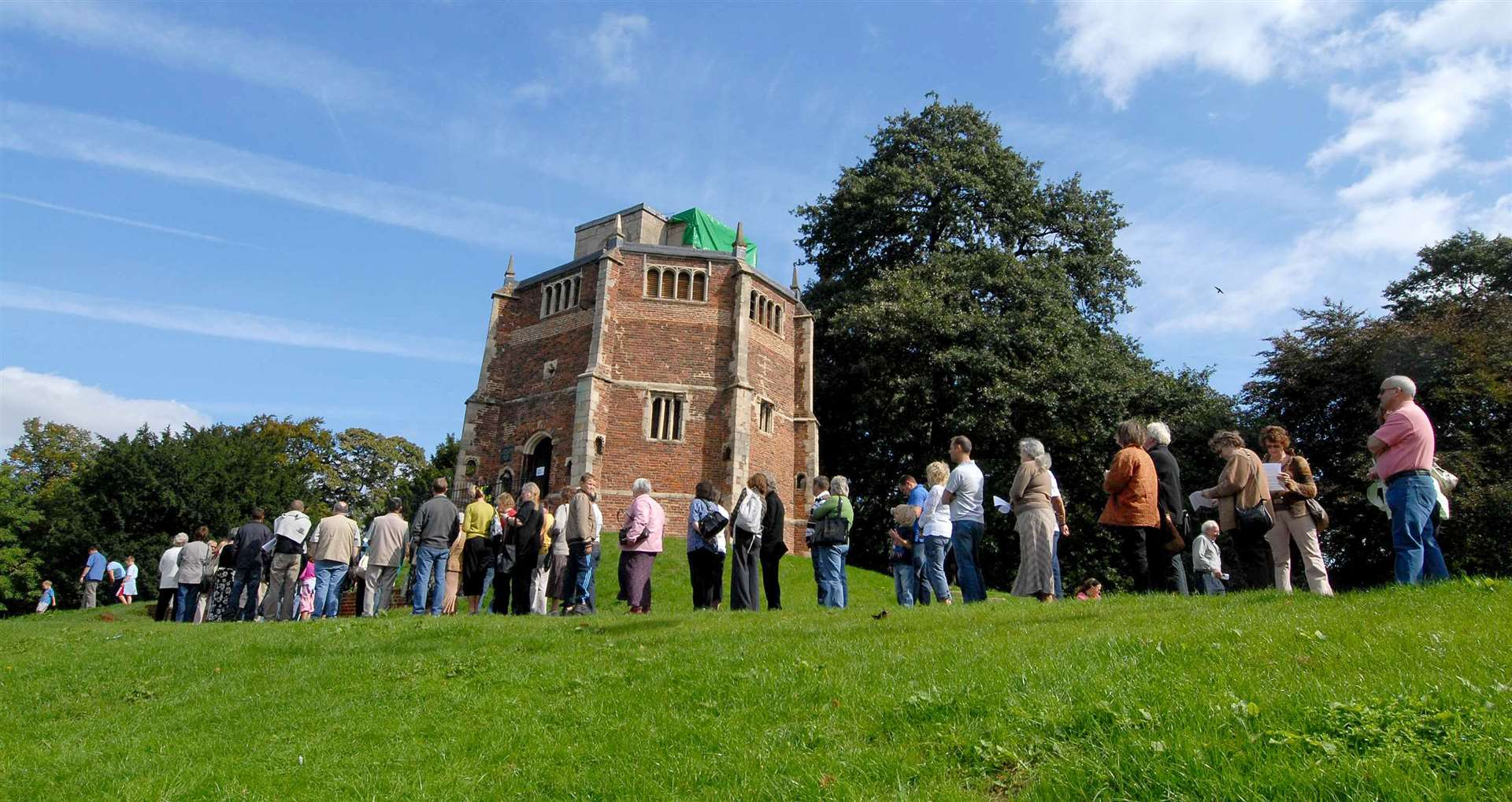 Heritage Open Day - A rare chance to explore round the Red Mount Chapel proves to be very popular drawing a large crowd all day.. (50356547)
