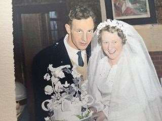 Oliver and Norma on their wedding day back in 1956. (44782626)
