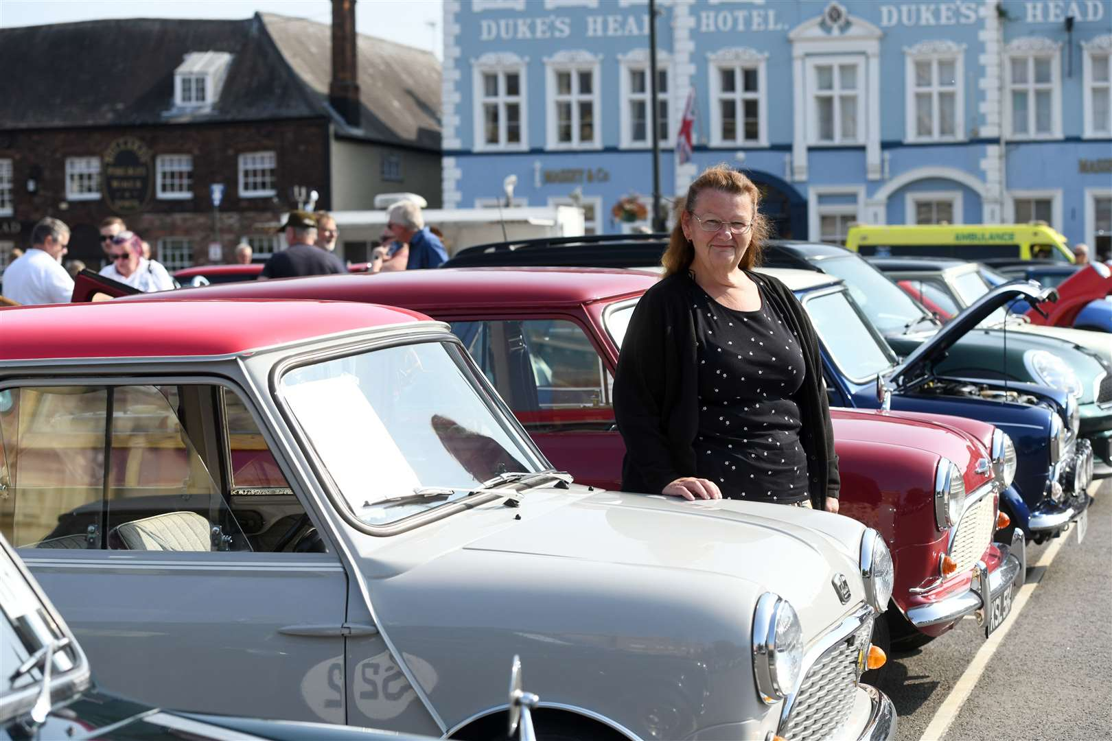Mini Meet on the Tuesday Market Place ..Keri Leftley the mini has been in her family since new..... (50928474)