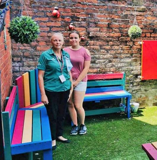 Tania Hanks, Morrisons community champion, visited the Railway Road headquarters of the West Norfolk Deaf Association to tidy the children's garden area.