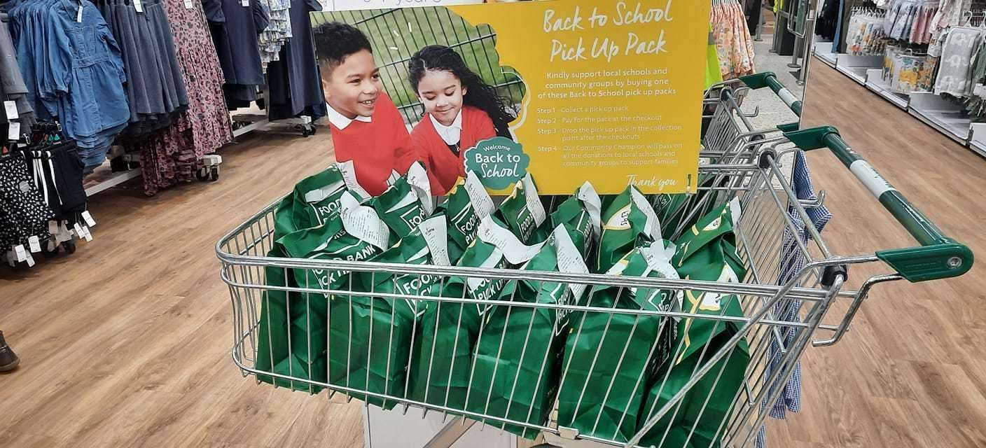 Morrisons has put together back to school stationery packs which shoppers can buy for another family in need