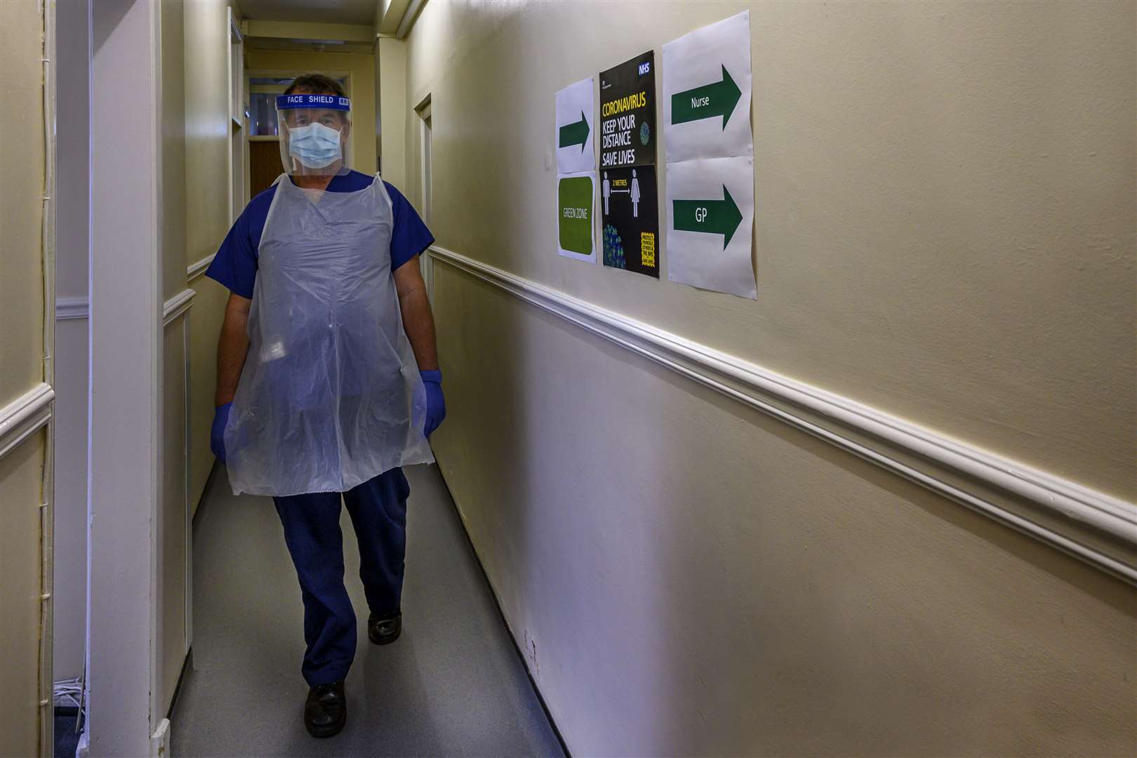 St James Surgery in King's Lynn has narrow corridors which means wheelchairs struggle to pass. Picture: Prabir Mitra
