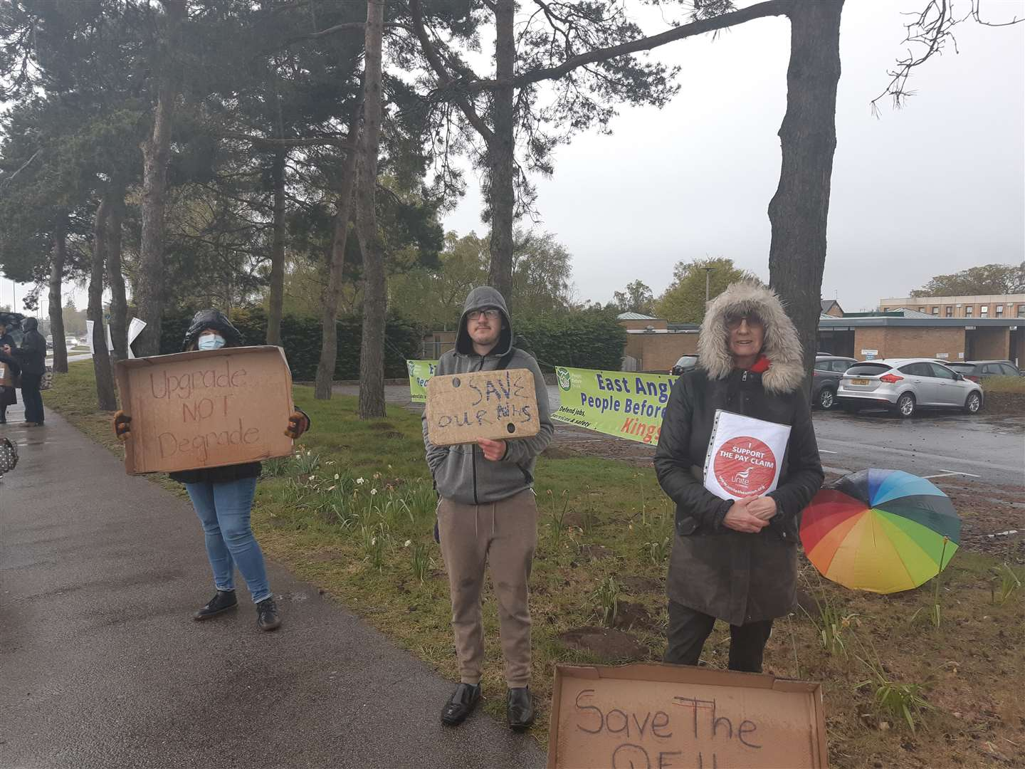 Protesters braved the rain and sleet to make their point (46898345)