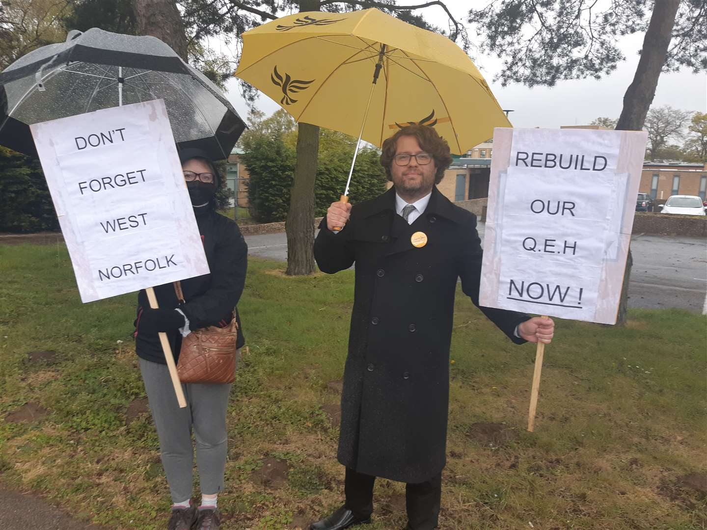 West Norfolk Liberal Democrats chairman Rob Colwell, right, joined the protest (46898350)
