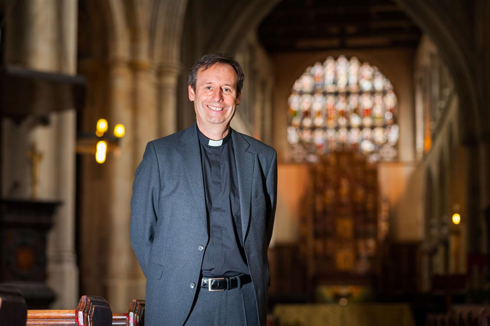 The new team rector at Lynn Minster - The Rev Canon Dr Mark Dimond