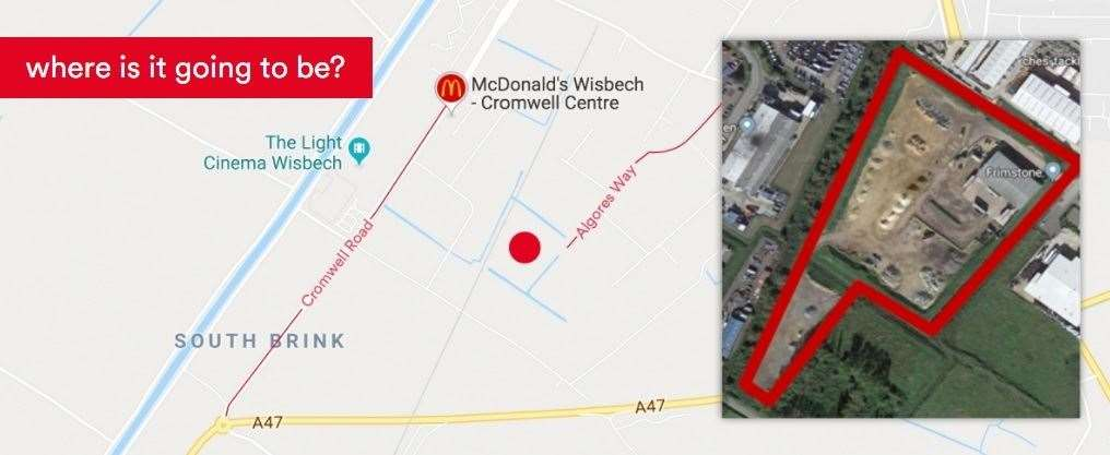 The proposed site of the energy from waste plant in Wisbech