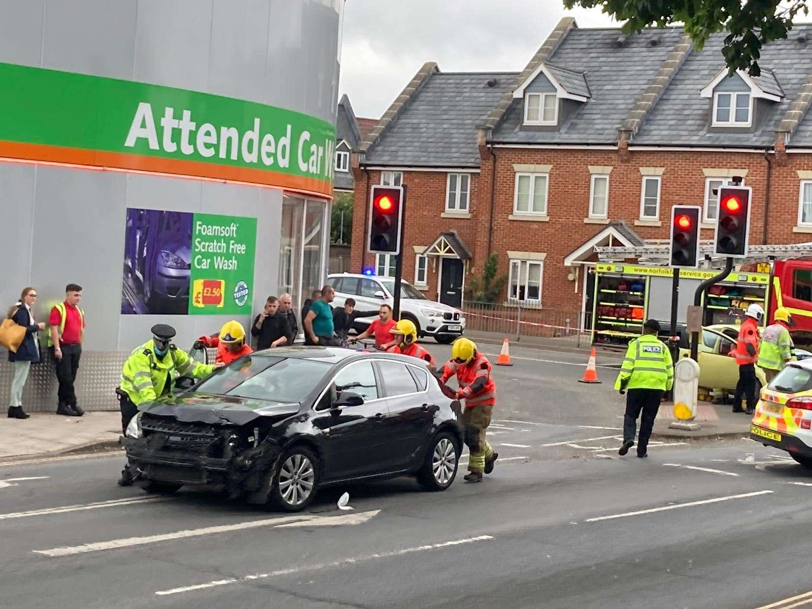 The scene of the collision at the junction of John Kennedy Road and North Street (48438977)