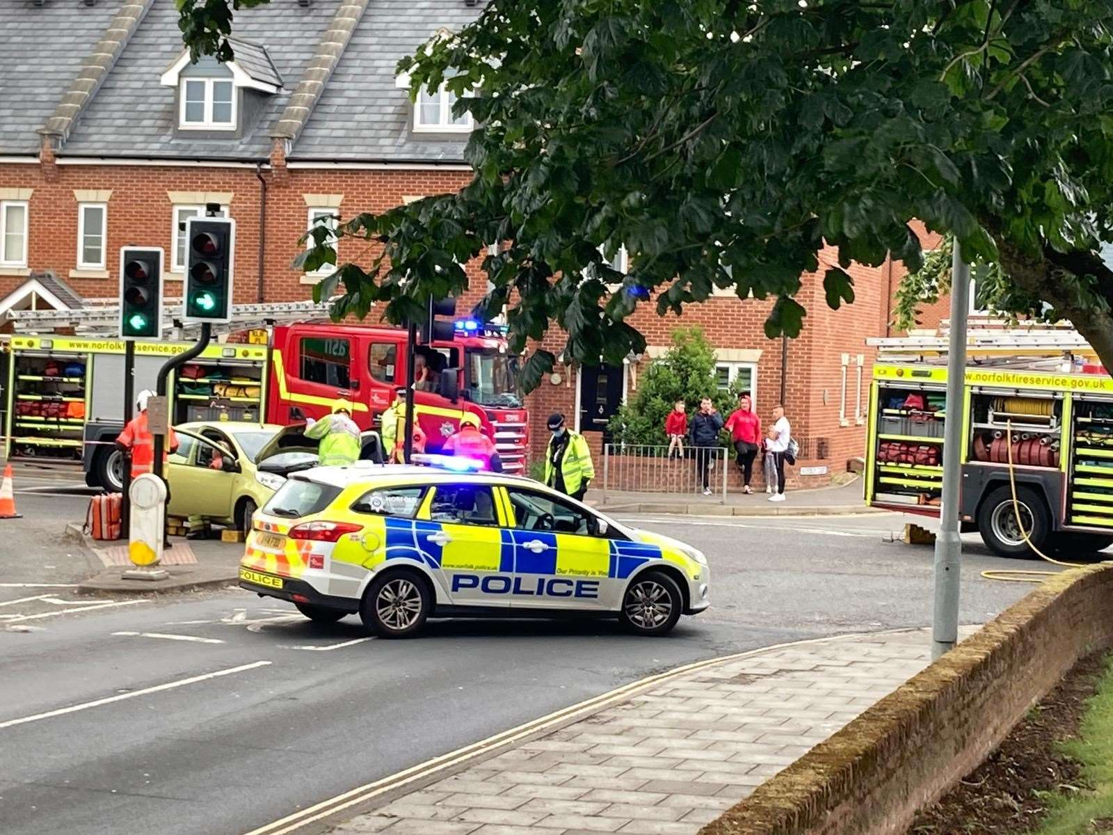 The scene of the collision at the junction of John Kennedy Road and North Street (48438980)