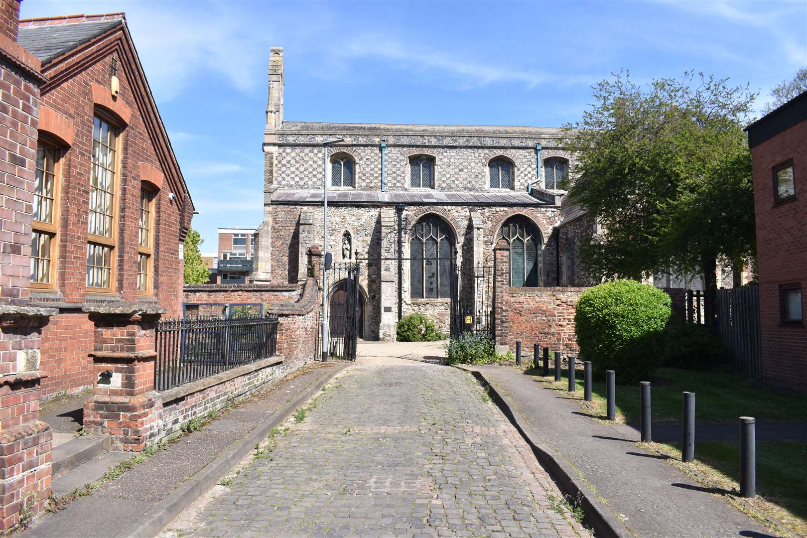 The impact on buildings such as the nearby All Saints' Church was a key concern for opponents of the Hillington Square plan