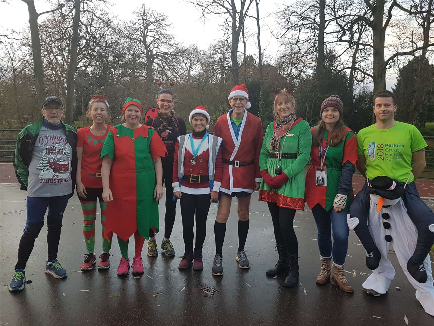 Christmas fancy dress parkrun in King's Lynn 2018. Picture: SUBMITTED. (6201679)