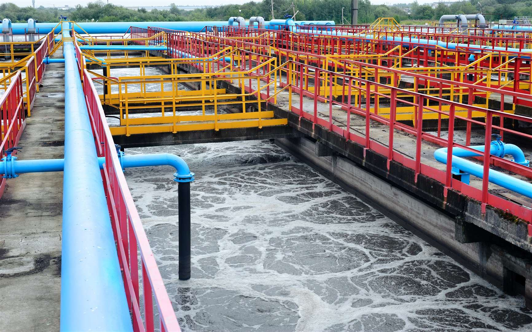 The Environment Agency says waste water treatment works may need to release partially treated water because of chemical shortages