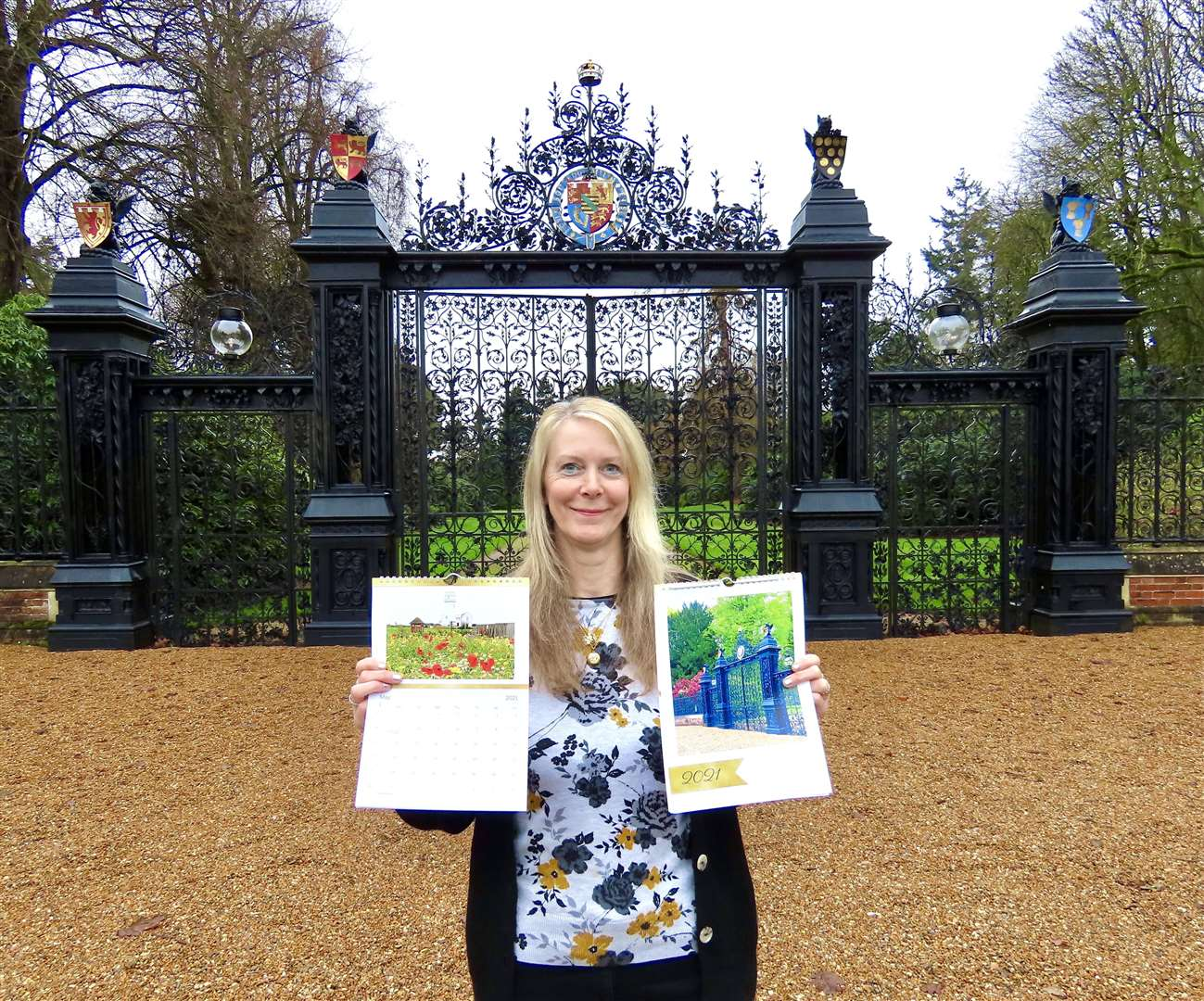 Julie Smart with her calendar at the Norwich Gates at Sandringham (43785604)